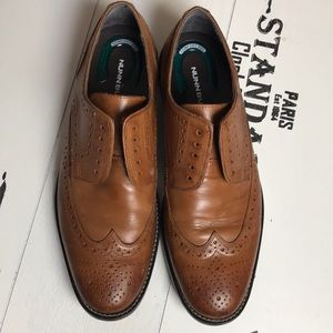 Nunn Bush Leather Oxfords Size 11 No Laces
